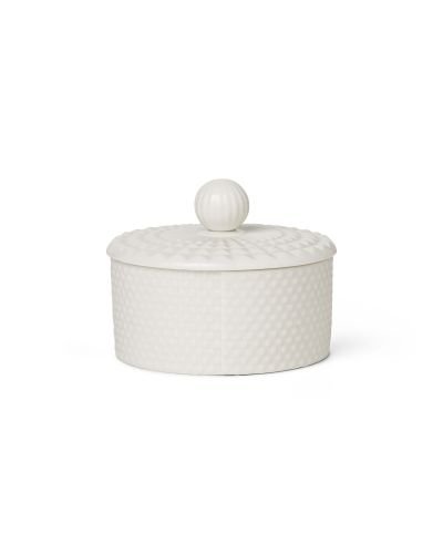 Pipanella Lid Jar Low Dot White