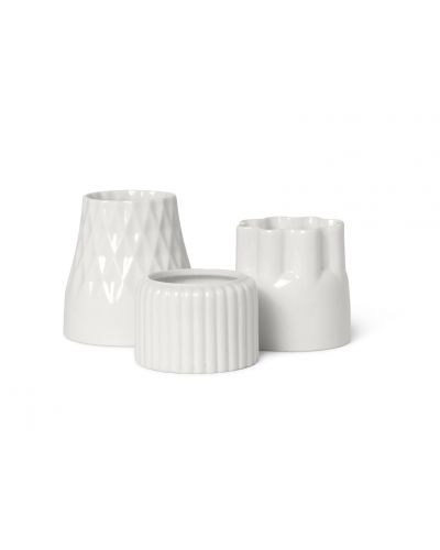 Alba candle holders Flock 2, set of 3 pcs.