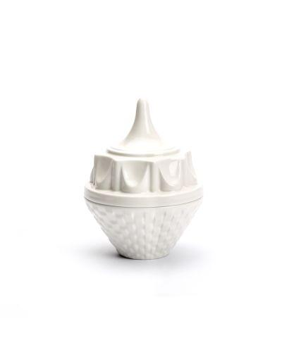 Twinkle Hatter, lid jar, white