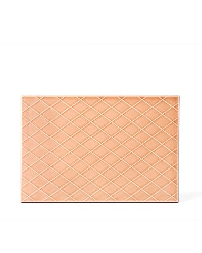 Pipanella Serving Tile Diamond, Dusty Coral