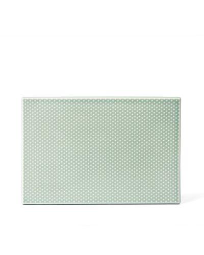 Pipanella Serving Tile Dot, Celadon