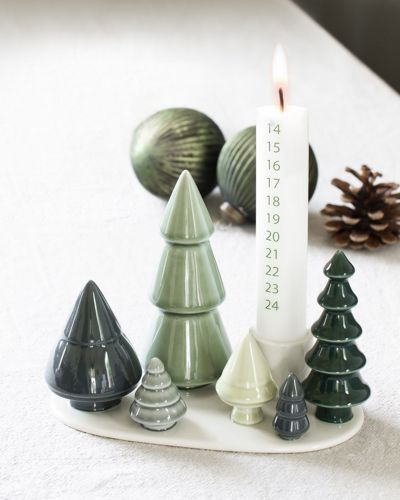 Calendar candle for Winter Stories Forest 30x300 mm.